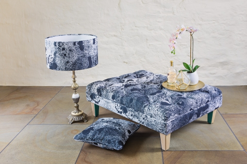 Deluxe Deep Buttoned Foot Stool, £375.